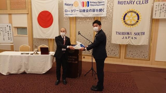 鶴岡南ロータリークラブでのゲストスピーチ
