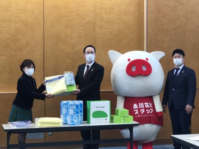 3月15日(月)鶴岡市共同医療従事者支援プロジェクトの贈呈式に参加しました